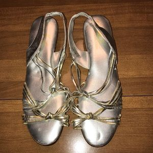 Katie Lee Collection silver and gold sandals